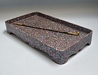 Antique Japanese Mother of Pearl & Lacquer Smoking Tray