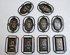 Set 10 Antique Japanese Cloisonne Sliding Door Handles