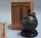 Bronze Dragon Koro Incense Burner by Serikawa Ryoho