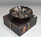 Rare Edo period Japanese Ninsei Ceramic Kashibachi Bowl