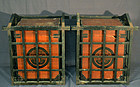Matching Pair of Japanese Armour Boxes w/ Carryig Cases, hitsu