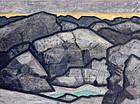 Sawa Kojin Mid Century Painted Scroll, 1950s Nihonga