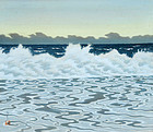 Okumura Koichi, Morning Tide, 1950s Japanese Scroll
