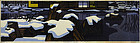 Clifton Karhu Ginkakuji in Snow Japanese Woodblock Print