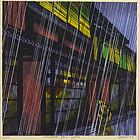Clifton Karhu, Shimbashi Rain-Kyoto Japanese Woodblock Print