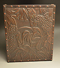 Taisho Style Japanese Bronze Uchidashi Te-bako Box
