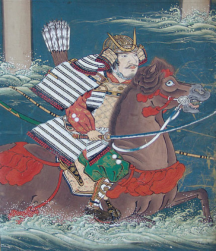 A Spectacular Mid Edo Japanese Gold Samurai Screen