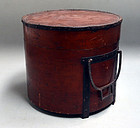 Antique Japanese Kubi-oke Head bucket, Edo period
