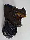 Antique Japanese Edo period Samurai Armor Mask