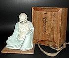 MEIJI Japanese SEIJI BUDDHIST IMAGE, RAKAN