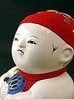 Antique Japanese Gosho Ningyo Doll w/Signed Box, KYOTO