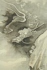 FINE JAPANESE DRAGON SCROLL, EISUI