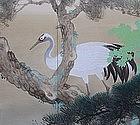 Antique Japanese Taisho Screen Set by Kubota Chikubun B