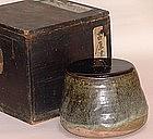 Edo Period Japanese Karatsu Mizusashi