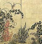 Edo period Japanese Gold Rimpa Screen