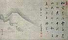 MASSIVE EDO JAPANESE TEA ROOM SCROLL MT FUJI