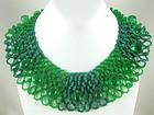Beautiful Italian Green Beaded Collar Necklace