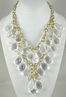 Amazing Kenneth Jay Lane Lucite Prism Bib Necklace