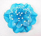 Cilea French Resin Turquoise Flower Pin