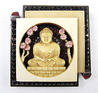 Beautiful Robert Sorrell Ivory Buddha Pin