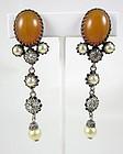 Early Christian Dior France Dangling Earrings