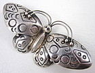 Charming Navajo Sterling Stampwork Butterfly Pin
