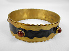 Chic Black Felipe Barbosa Gold Vermeil Bangle Bracelet