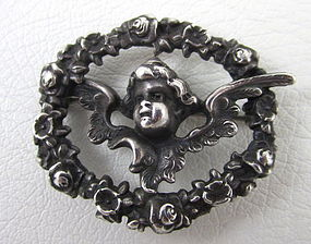 Charming William Kerr Art Nouveau Cherub Watch Pin
