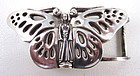 Lovely Kieselstein Cord Sterling Butterfly Belt Buckle