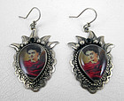 Beautiful Barbosa Frida Kahlo Sacred Heart Earrings