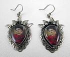 Beautiful Barbosa Frida Kahlo Sacred Heart Earrings