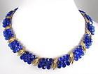 Stunning Trifari Electric Blue Briolette Necklace