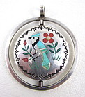 Sammy & Esther Guardian Sterling Inlay Flip Pendant