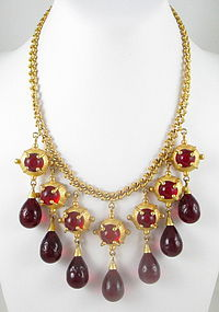 Breathtaking Andrew Spingarn Poured Glass Necklace