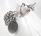 Classic Ralph Lauren Sterling Toggle Charm Bracelet