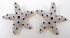 Dramatic Swarovski Crystal Starfish Clip Earrings