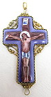 Sterling Gold Vermeil Russian Enamel Cross Pendant