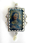 Sterling Silver Archangel Religious Peruvian Pendant