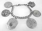 Vintage Sterling Silver Sport Themed Charm Bracelet