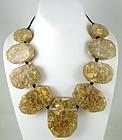 Stunning GG Bones Resin Gold Leaf Resin Necklace