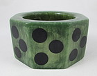 Dramatic GG Bones Green Resin Polka Dot Bracelet