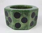 Dramatic GG Bones Green Resin Polka Dot Bracelet