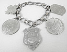 Vintage Sterling Silver Academia Themed Charm Bracelet