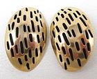 Lovely Stephen Vaubel Gilt Bronze Clip Earrings