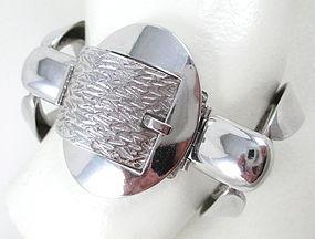 Chic Orlando Orlandini Italy 800 Silver Buckle Bracelet