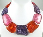 Gerda Lynggaard for Monies Pastel Resin Necklace