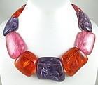 Gerda Lynggaard for Monies Pastel Resin Necklace