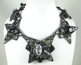Robert Sorrell Ombre Crystal Necklace & Earrings