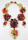 Amazing Robert Sorrell Red Ombre Crystal Necklace