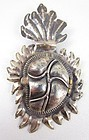 Judith Roberts La Colección Sacred Heart Mexican Reliquary Pin Pendant